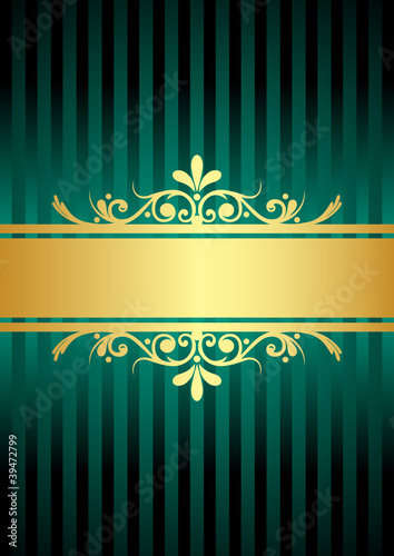 Vector gold & turquoise background