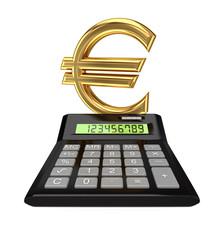Calculator and euro sign.I