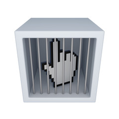 Cursor in a jail.
