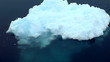 zoom out of antarctic iceberg