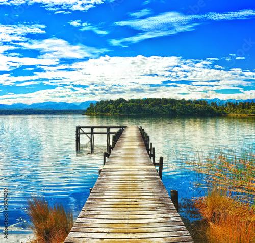 Fototapeta Lake Mahinapua