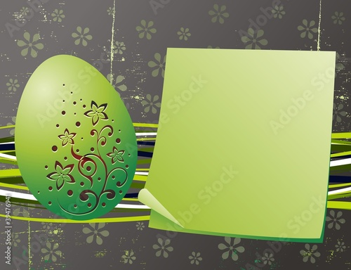 Pasqua Biglietto di Auguri-Easter Grunge Greeting Card-Vector