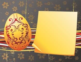 Pasqua Biglietto di Auguri-Easter Grunge Greeting Card 2-Vector