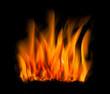 Feuer vor Schwarz