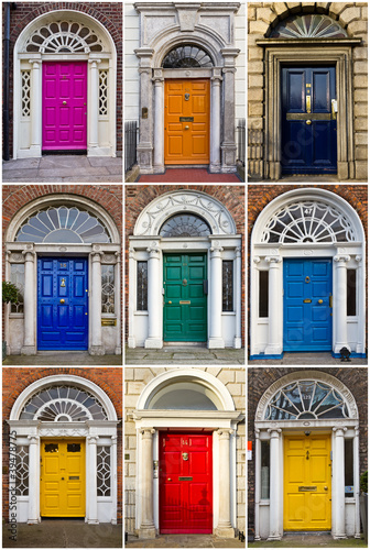 Poster Old Georgian Doors of Dublin