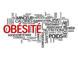 """Nuage de Tags """"OBESITE"""" (surpoids régime obèse santé diététique)"""