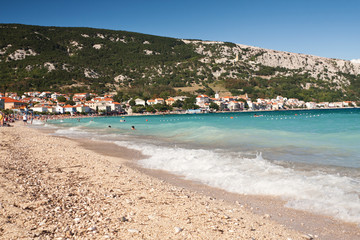 the beach in Baska - Croatia