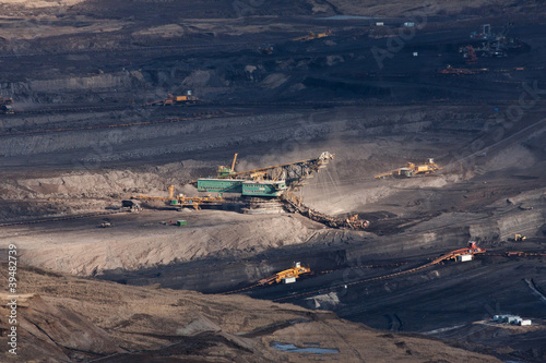 the excavator in coal opencast