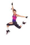 woman  dancer making a jumping dance move