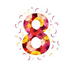 8 with petals