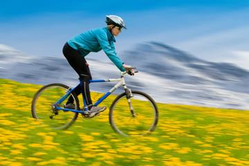 Spring mountai biking