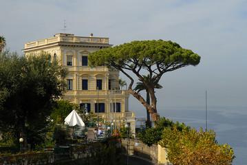 Terrace over the sea on the Isle of  Corfu in Greece