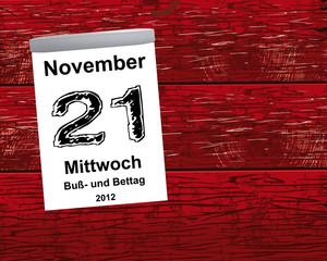 Kalender Holz - 21.11.2012 - Buß- und Bettag