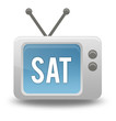 "Cartoon-style TV Icon with ""Sat"" wording on screen"