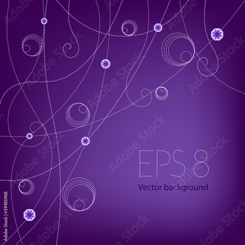 purple beading background(EPS 8)