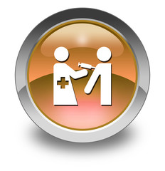 "Orange Glossy Pictogram ""Immunizations"""