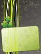 Cartolina Grunge Quadrifoglio-St Patrick's Day Green Card