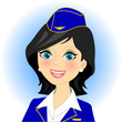 Vector illustration of air stewardess