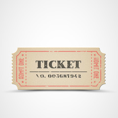Vector vintage ticket