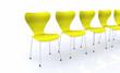 Designer Stuhlreihe - Gelb