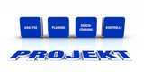 Fototapety Text Konzept - 3D Projekt Blau 4