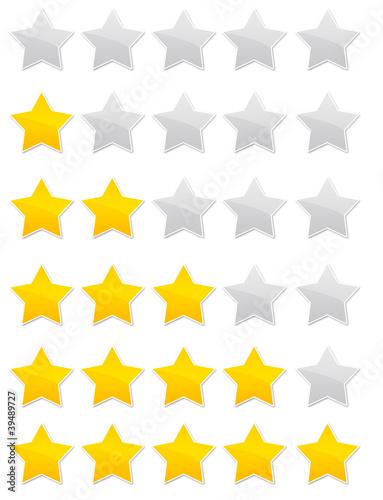 évaluation - vote - avis - note - étoiles