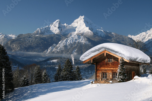 canvas print picture Winter im Berchtesgadener Land