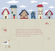 Seaside Houses Background