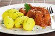 Gulasch vom Schwein mit Kartoffeln