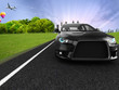Auto sportiva su strada