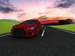 Auto rossa su strada