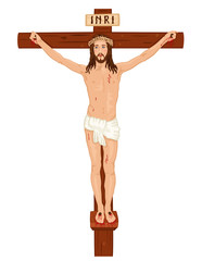 Crucifixon - Jesus Christ on the Cross - vector