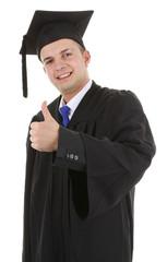 Thumbs up graduate