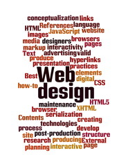 Web Design word cloud isolated