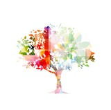 Fototapety abstract colorful vector tree