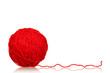 Leinwandbild Motiv Red ball of yarn