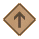 Recycle paper go straight direction traffic sign isolated on whi