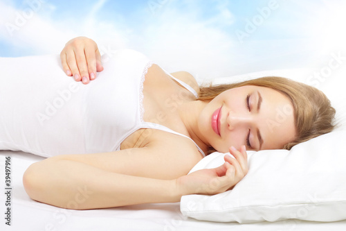 Sleeping Girl on the bed