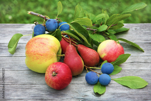 Apples, cherries,  pear