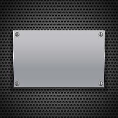 metallic plaque for signage