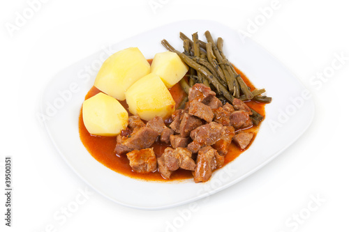 goulash with beans and potatoes