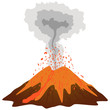 Volcano mountain erupting.