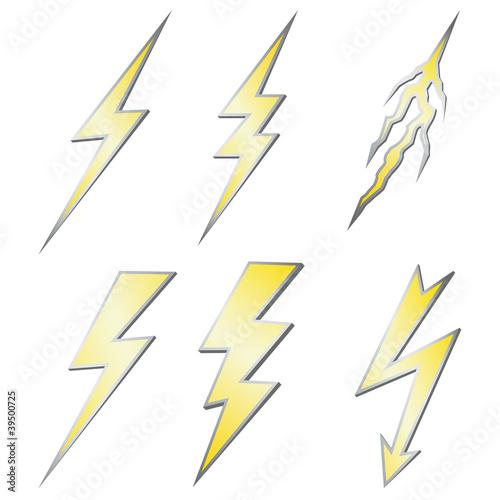 Lightning Bolt Quote Gold Lightning Bolt With