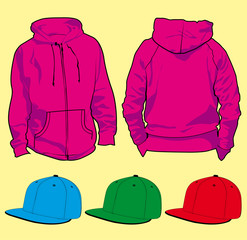 Hoodies with fitted hats