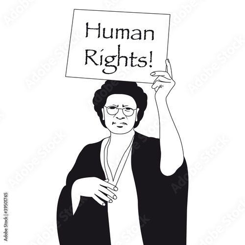 Human rights woman