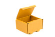 isolated open and empty cardboard box