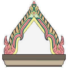The lined ornaments of Thai Architecture