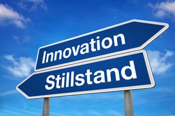 Verkehrsschild Innovation Stillstand
