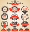 Premium Quality Labels. Design elements with retro vintage desig