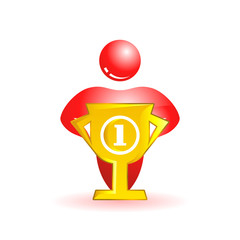 First place. Social people icon